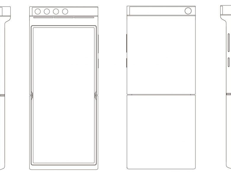 Le brevet Xiaomi montre un téléphone pliable à clapet avec un module de caméra à rotation et rotation