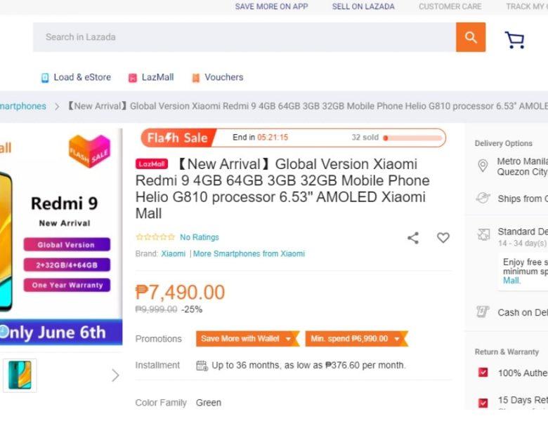 Les spécifications de Redmi 9 et le prix apparaissent sur le site Web du détaillant avant le lancement