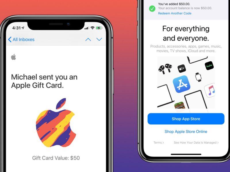 Comment utiliser la carte cadeau Apple sur iPhone, iPad, Mac