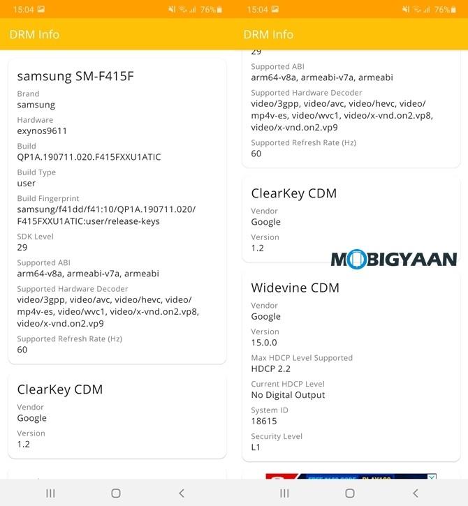 DRM-Info-Galaxy-F41