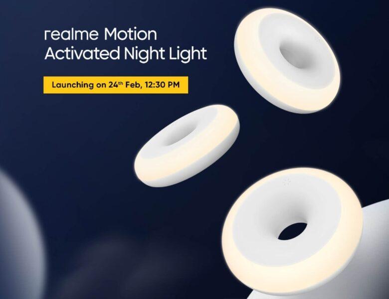 La veilleuse activée par Realme Motion avec une autonomie de 365 jours devrait être lancée en Inde mercredi
