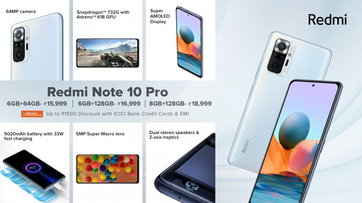 Redmi Note 10, 10 Pro et 10 Pro Max font leurs débuts en Inde