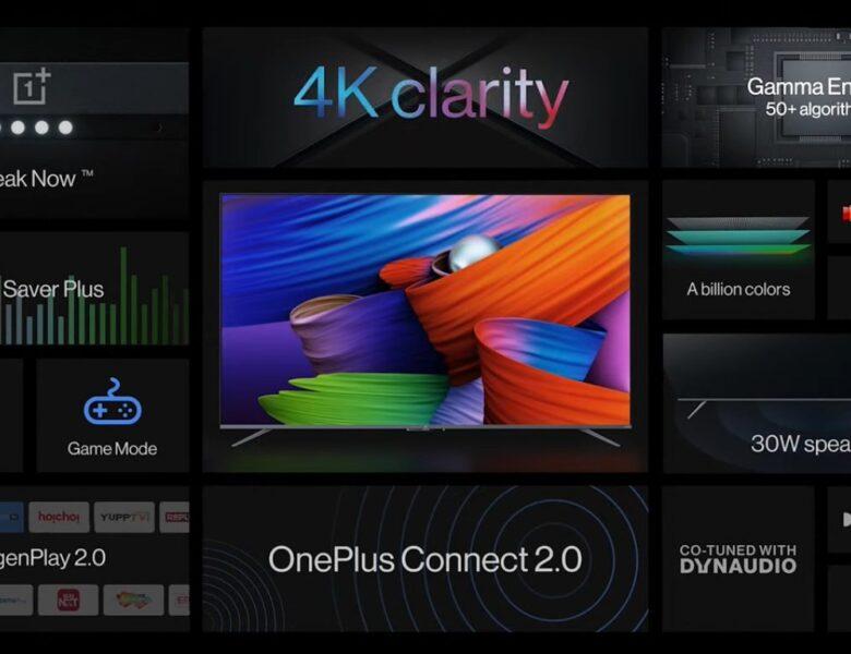 Série OnePlus TV U1S avec résolution 4K, haut-parleurs 30 W, Android TV 10 lancé en Inde