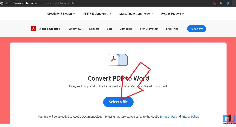 Convertir un PDF en Google Docs avec Adobe